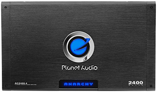 (Planet Audio AC2400.4 Anarchy 2400 Watt, 4 Channel, 2/4 Ohm Stable Class A/B, Full Range, Bridgeable, MOSFET Car Amplifier with Remote Subwoofer Control)