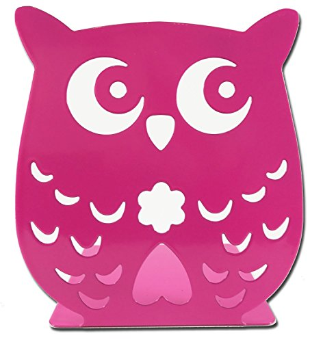Owl Wonderland Bookends - Cute Lightweight Baby Owls - Great Decor for Little Ones Nursery, Childrens Bedroom, Kids Playroom or Fun Owllover Gift for Office - Bookends Church