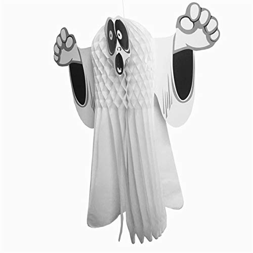 RUJFISH Ghost Windsock Halloween Hanging Decoration 3D Handmade Hanging Pendant Decoration Paper Ghost Party -