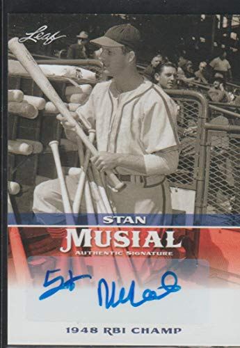 (2015 Leaf Stan Musial Cardinals Autographed Baseball Card #MA-SM14)