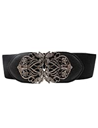 Susenstone Alloy Flower Vintage Leather Belt Belt Straps For Women