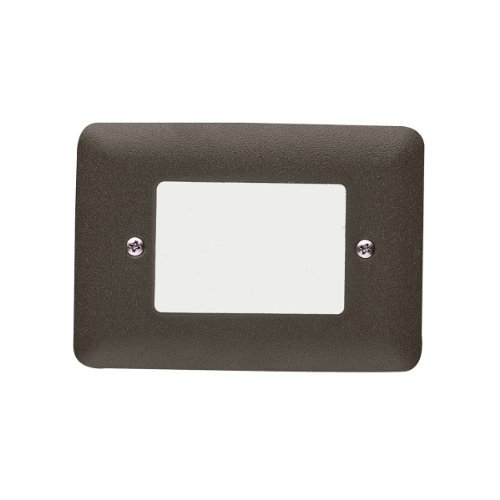 Kichler  15780AZT27 Lensed 1.9W 2700K LED Step Light, Textured Architectural Bronze Finish with White Acrylic Lens ()