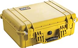 Pelican 1500 Case with Foam for Camera (Yellow)