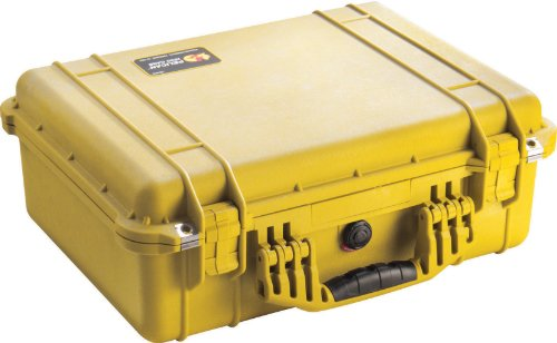 Pelican 1520 Case With Padded Dividers (Yellow) by Pelican