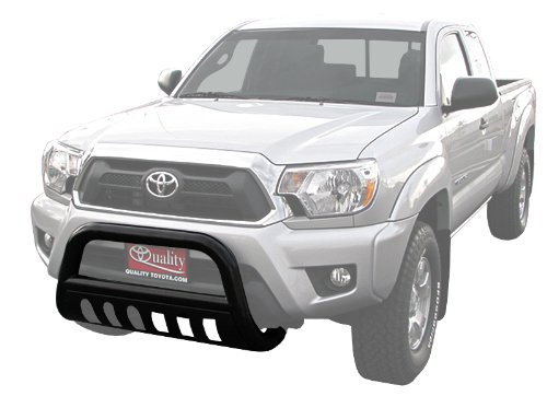 TYGER Black Bull Bar Bumper Brush Guard with Skid Plate with Skid Plate Fits 05-15 Toyota Tacoma