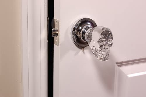 2.5-Inch Brass Krystal Touch of New York 3733BPA Skull Passive Doorknob