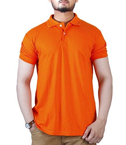 Foursquares Polo Shirt (Small, Pure Orange)