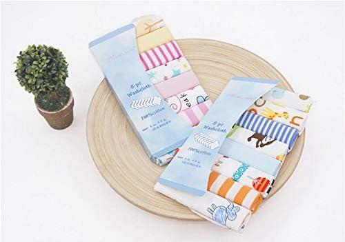 CuteOn Paquet de 8 Super Doux B/éb/é D/ébarbouillettes Feeding Essuyer Tissu pour Nouveau n/ée Gar/çons /& Filles Bleu Singe