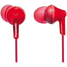 Panasonic Wired Earphones - Wired, Red (RP-HJE125)