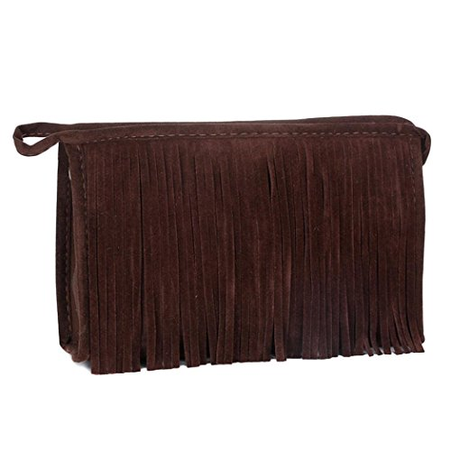 Coersd Fashion Tassel Portable Cosmetic Bag