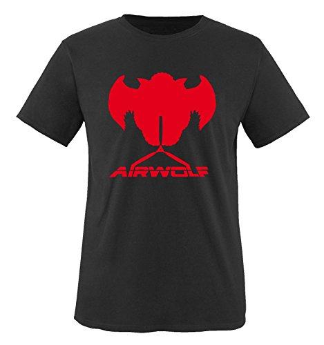 Homme rouge Courtes Noir shirt Air Manches wolf Noir T wvaPgqB