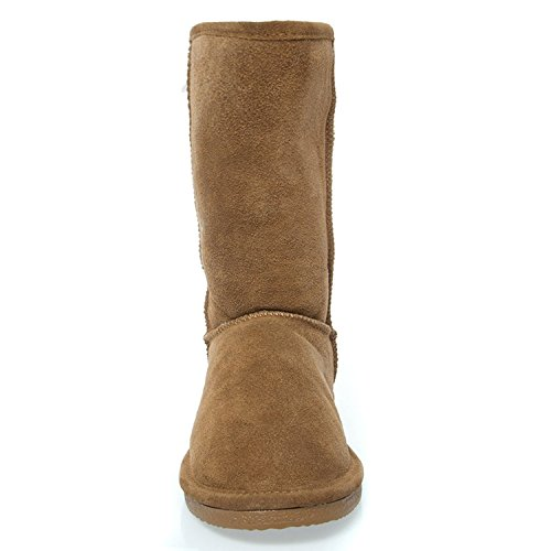 Boot Faux Flat Hickory Calf Mid Eva DEV Women's 410m Round Fur EVA Suede Comfort Toe Michelle Ix7qHgR
