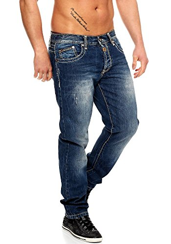 Denim À Couture Pantalon 0688 Pour Bleu C 48 Baxx Homme Tailles Délavé Cipo 37 Cargo Jean Clubwear l30–l32–l34–l36 En Épaisseur Chino amp; R6z4q4