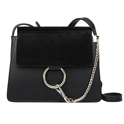 Fineplus Fashion Women Genuine Cow Leather Purse Valentine Chain Shoulder Cross Body Bags Black Buyb178-1