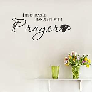 Vinilo removible La vida es frágil Manéjelo con oración Tatuajes ...