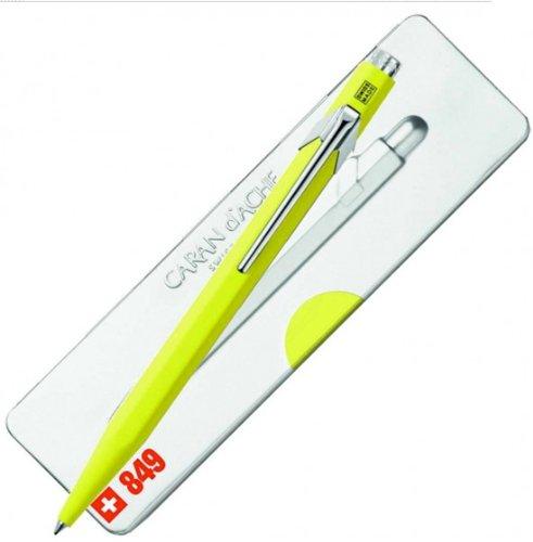 Caran D'ache 849 Popline Fluorescent Yellow Ballpoint Pen - CA-849970