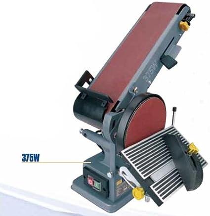 500 x 300 x 260 mm L x B x H yorten Bandschleifer 375W Tellerschleifer Bandschleifmaschine Schleifmaschine 1450 U//min Band und Tellerschleifen Ca