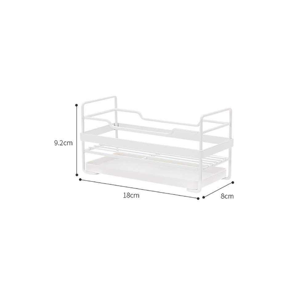 Kitchen Small storage Shelf - Dishwasher Sink Drainer - Washing and Washing Fruit Shelf Sink Tray, Telescopic, Stainless Steel by Guoqing (Image #2)