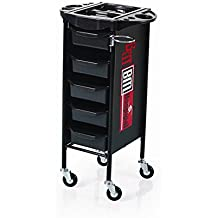 Eastmagic Beauty Salon Spa Styling Station Trolley Equipment Rolling Storage Tray Cart (Black)