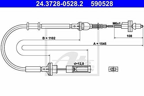 ATE 24372805282 Cavo della frizione Continental AG 24.3728-0528.2