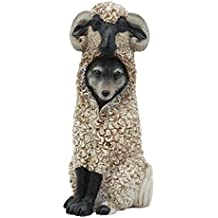 "Ebros Dupers Collection Wolf in Sheep Clothing Statue 5.75"" Tall Crafty Wild Direwolf in Ram Sheep Costume Decor Figurine Collectible"