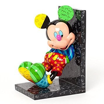Romero Britto Disney Mickey Mouse Multi Colored Pop Art Single Bookend