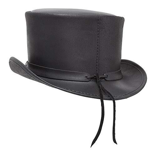 688f87f916de Amazon.com: Voodoo Hatter El Dorado by American Hat Makers Iconic Leather  Top Hat: Clothing
