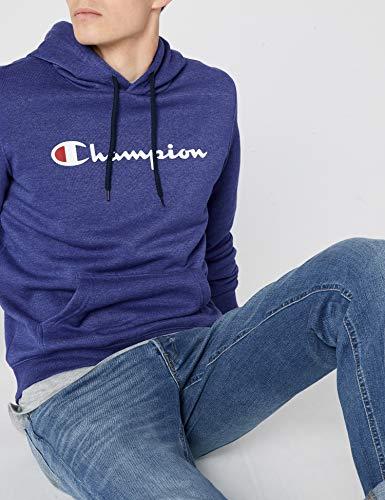 Institutionals Hooded Sweatshirt zbvu Felpa Champion Blu Uomo gz48xFF