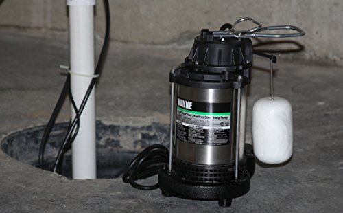 WAYNE CDU980E 3/4 HP Submersible Cast Iron and Stainless Steel Sump Pump With Integrated Vertical Float Switch by Wayne (Image #2)
