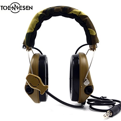 Gun Accessories Electronic Ear Muff, Mud Color by TOENNESEN