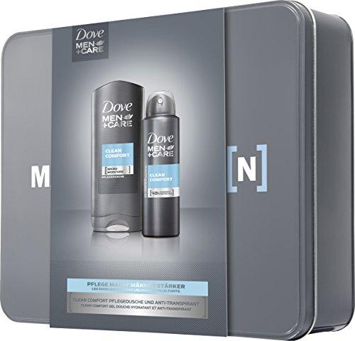 Dove Men+Care Geschenkset Clean Comfort mit Metalldose, 1er Pack