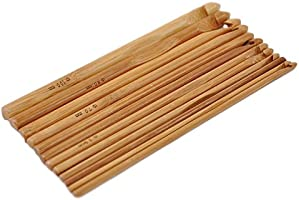 20 Stück Bambus Holz Häkelnadeln Stricknadeln Set Mit Etui Groupcow