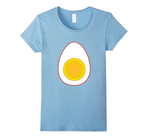 Last Minute Halloween Costume Ideas For Babies (Womens Funny Deviled Egg Halloween T-Shirt Last Minute Costume Tee Small Baby Blue)