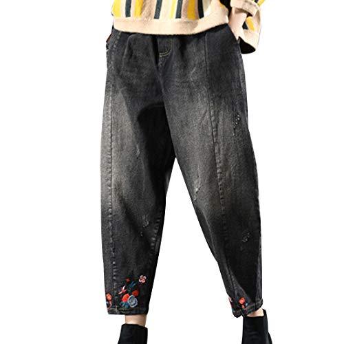 代数的旋回そのような(ボラ-キキ) Bole-kk レディース ボトムス パンツ デニムパンツ サルエルパンツ サルエルデニム ジーンズ ジーパン カジュアル 大きいサイズ 刺繍