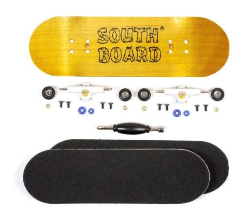 Completo Finger Skateboard GE/WS/SWZ South Boards® Handmade Wood tarjeta Real Madera
