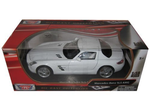 Mercedes SLS AMG Gullwing White 1/18 by Motormax 79162