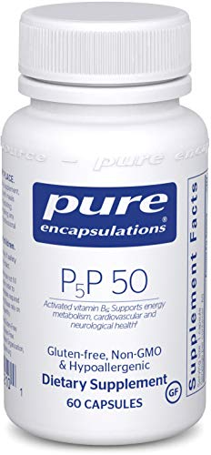 Pure Encapsulations - P5P 50 - Activated Vitamin B6 to Support Metabolism of Carbohydrates, Fats, and Proteins* - 60 Capsules (Vitamin B6 P5p)