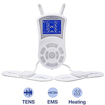 Image of Health and Household Easy@Home Professional Rechargeable TENS Unit + Heat Therapy + EMS, FDA Cleared, FSA Eligible Portable Pain Management and Muscle Stimulator Massager, Pain Relief Therapy Device EHE018