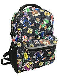 Super Mario Backpack All Over Print Full Size 16