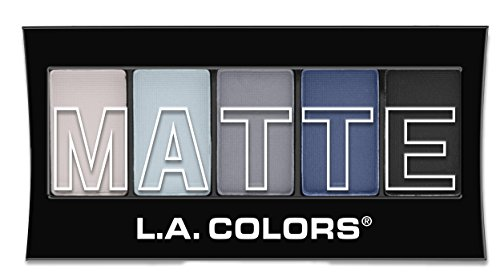 (L.A. Colors 5 Color Matte Eyeshadow, Blue Denim, 0.08 Ounce)