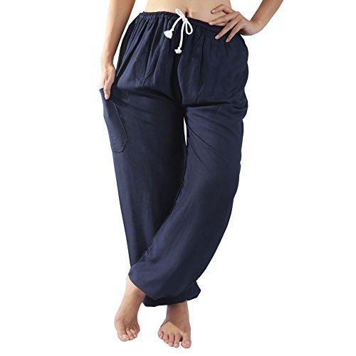 Rita & Risa Women's Pajama PJ Pants Bottoms/Lounge (Medium, Navy Blue) (Tye Dye Workout Pants compare prices)