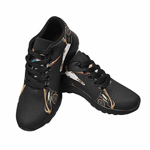 Scarpe Da Corsa Trail Running Da Donna Jogging Leggero Sportivo Da Passeggio Sneaker Da Uomo Con Testa Di Cervo Con Sfondo Scuro Dreamcatcher Multi 1
