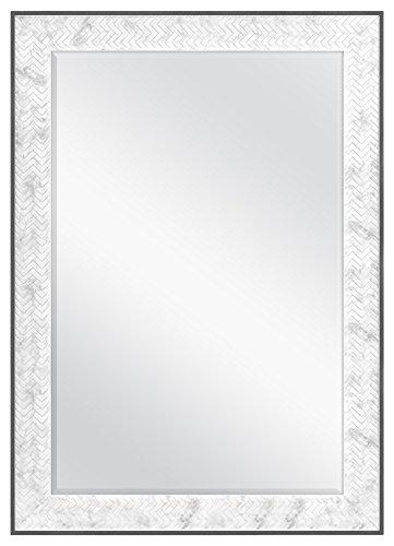 MCS 24x36 Inch Chevron, 30x42 Overall Size, Marble Mirror, 30 x 42 -