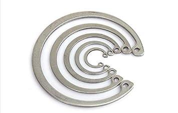 Ochoos 20pcs M8 M9 M10 M11 M12 Stainless Steel 304 Hole Inner circlip C Type circlips GB893 retaining Ring Rings Inner Diameter: M11