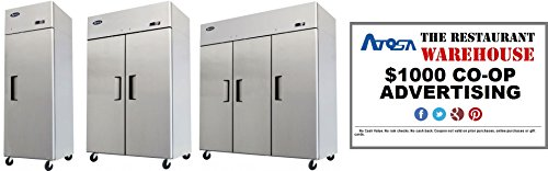 Atosa 78-Inch Three Door Upright Freezer and $1000 Restaurant Advertising Credit by Atosa