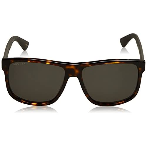 f1c34f8aa3 Gucci GG0010S, Gafas de Sol para Hombre, Marrón (AVANA-BROWN-GREY ...