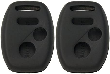 2 Pack Keyless2Go New Silicone Cover Protective Cases for Remote Keys KR55WK49308 MLBHLIK-1T OUCG8D-380H-A Black