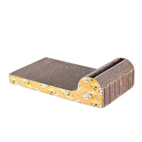 Cat Scratching Board with Ball, Cat Scratch Pad Kitty Scratcher Lounge Bed Corrugated Cardboard Scratching Posts Toy Pad Mat with Catnip (As Show)