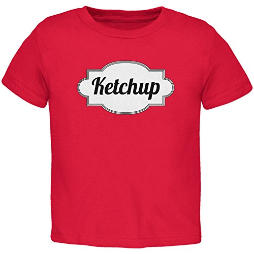 [Halloween Ketchup Costume Red Toddler T-Shirt - 2T] (Nerd Costume Toddler)