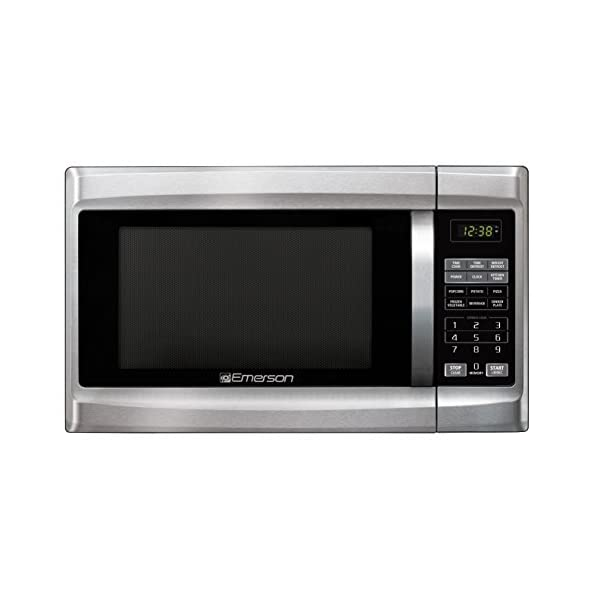 Emerson 1.3 CU. FT. 1000 Watt, Touch Control, Stainless Steel Front, Black Cabinet Microwave Oven, MW1338SB 2